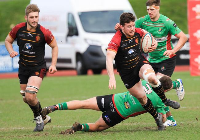 Iolo Evans scored RGC's final try in their win over Neath (Photo by Tony Bale)
