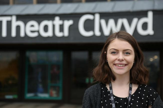 Megan Stokes, who graduated from Wrexham Glyndwr last year has benefited from a placement at Glyndwr student wins placement at Mold's Theatr Clwyd.