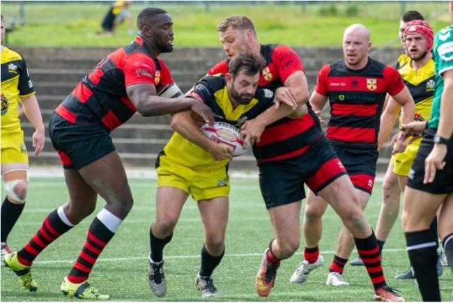 Action from last season's League One clash between North Wales Crusaders and London Skolars. Photo: RICHARD LONG