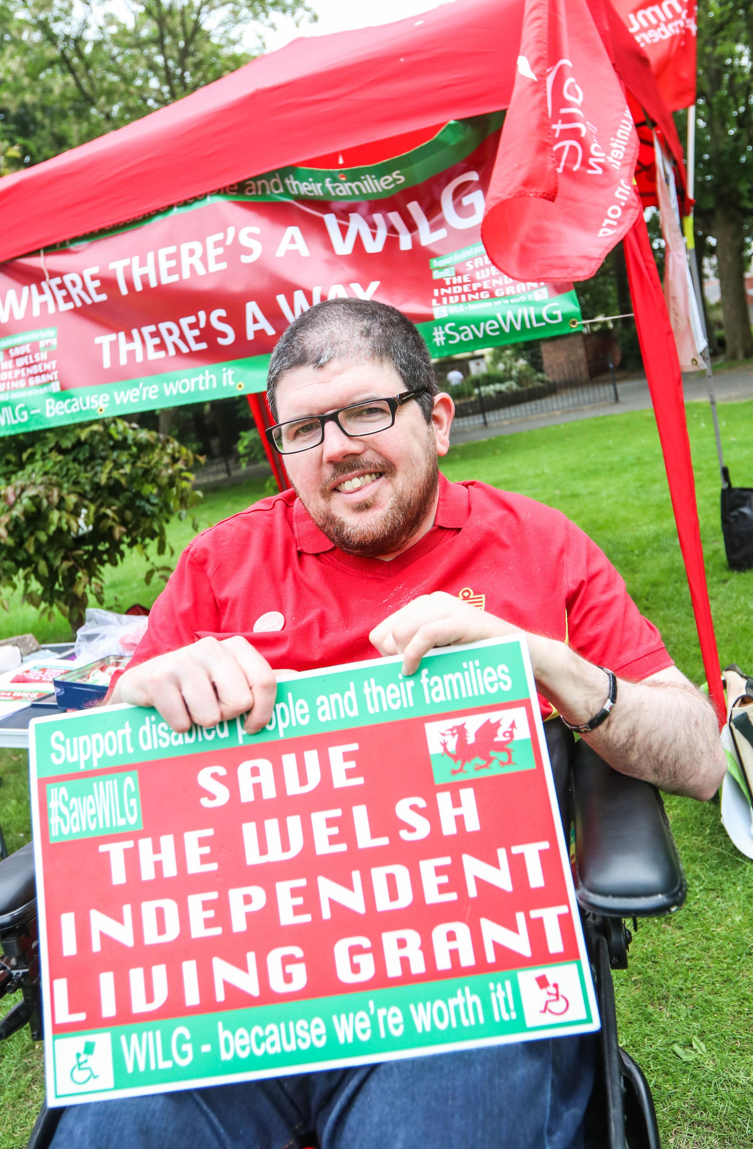 Campaigner Nathan Lee Davies at the event .Caia Park environmental open day on Llwyn Isaf, Wrexham..cc090618E.