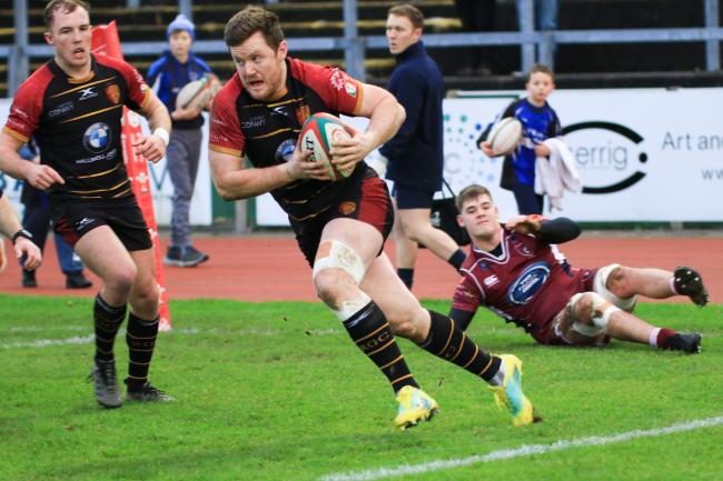 Iolo Evans scored a second half try for RGC at Newport (Photo by Tony Bale)