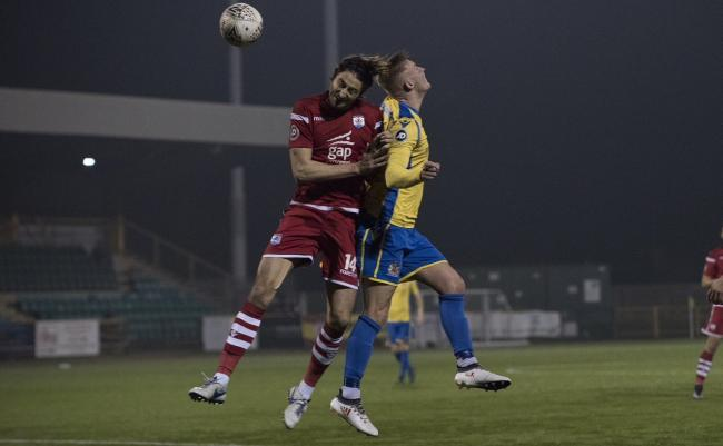 Adam Barton in action for Connah's Quay Nomads.