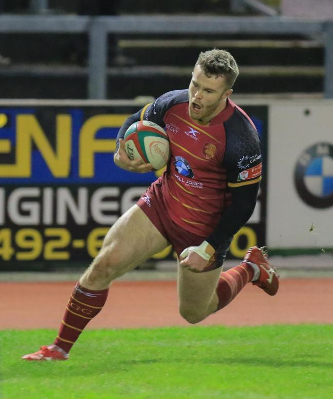 Sam Jones won Principality Premiership Try of the Week for a third time (Photo by Tony Bale)