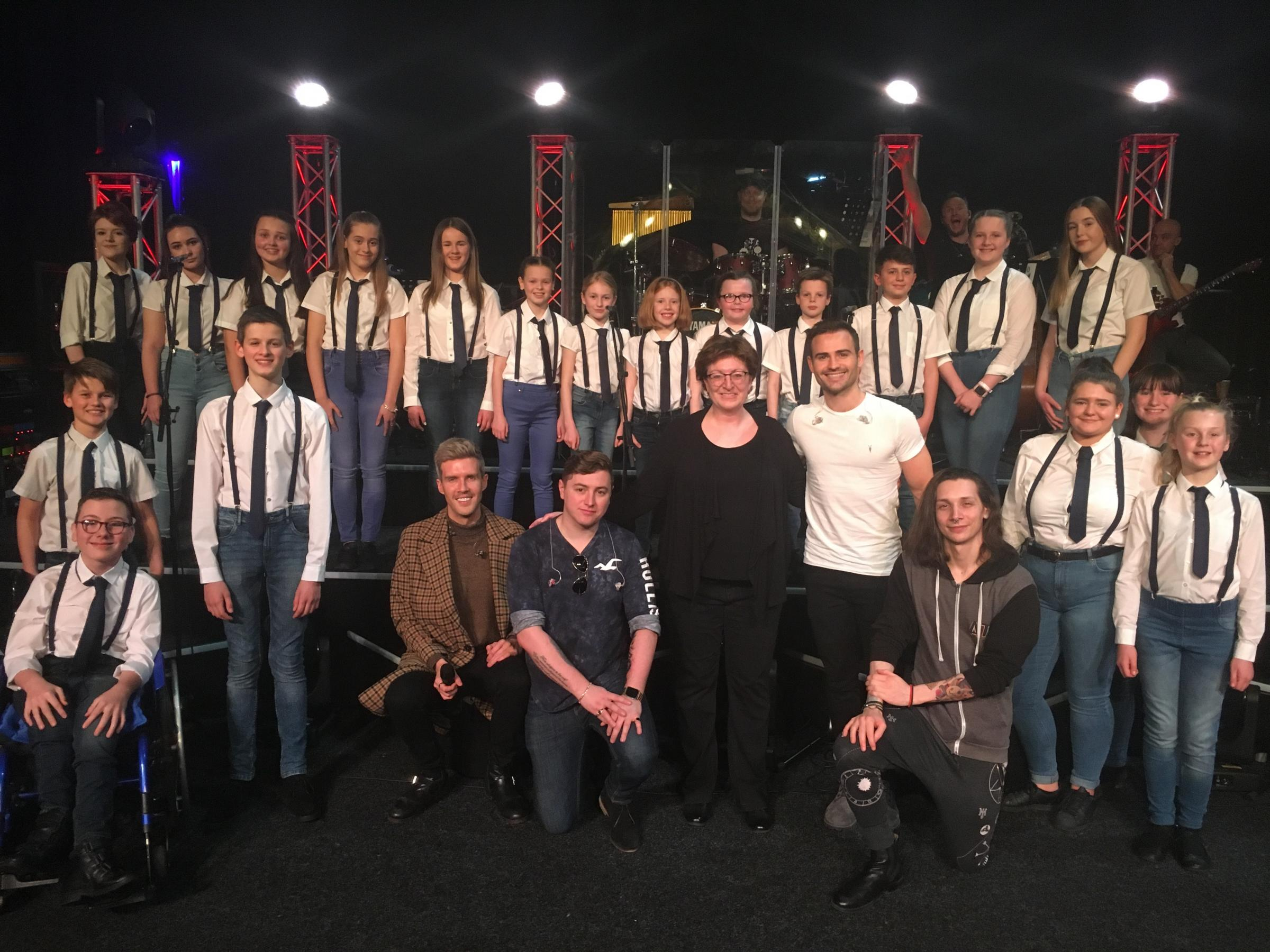 Choir performs with BGT stars