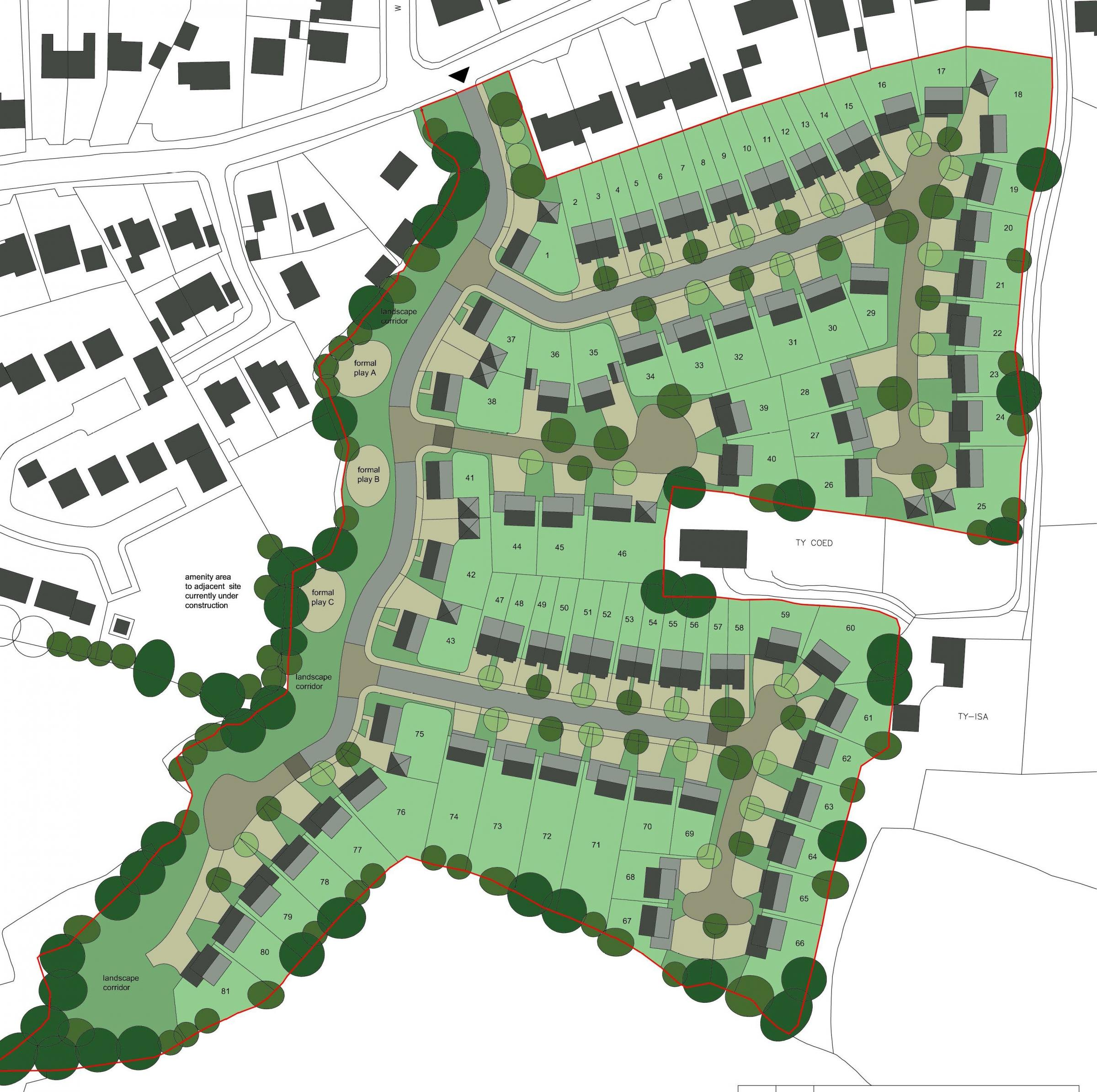 Plans for 85 new homes on Meg\'s Lane, Buckley look set to be rejected. Source: Planning document