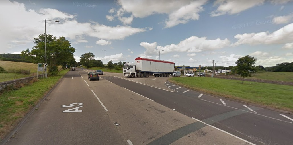 A5 junction near Pentre. Picture by: Google Maps