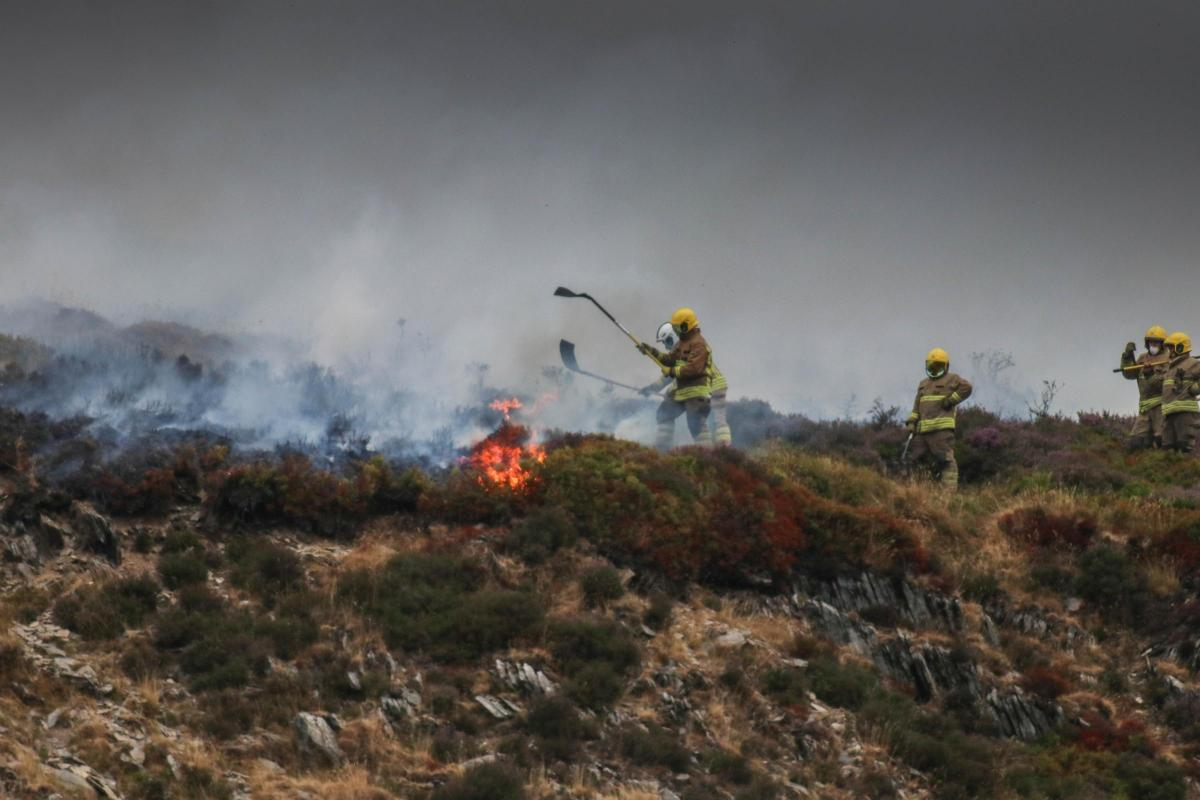 Firefighters tackle fires on Llantysilio mountain