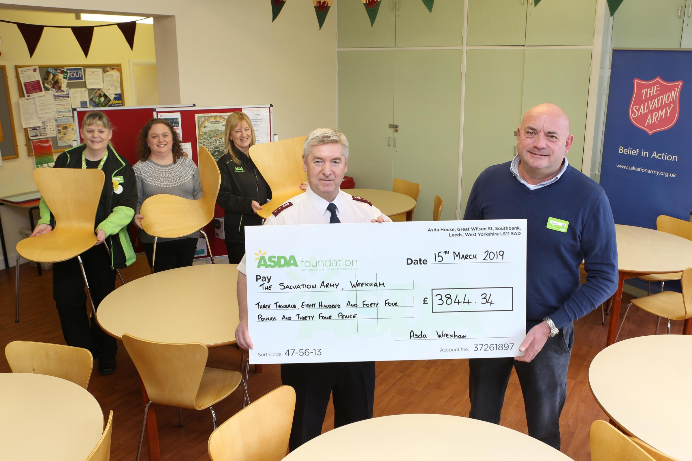 Wrexham charity receives nearly £4,000 donation from major supermarket