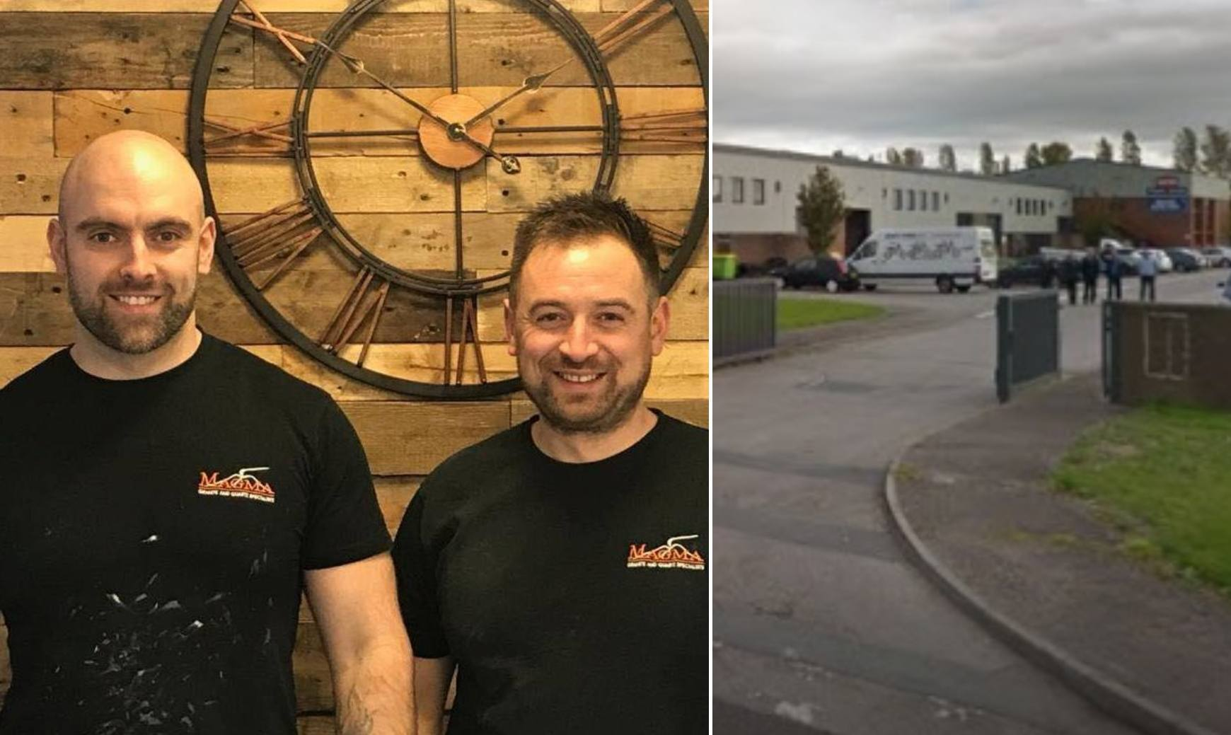 Brothers Mike and Steve Parry own Magma Granite on Deeside Industrial Park