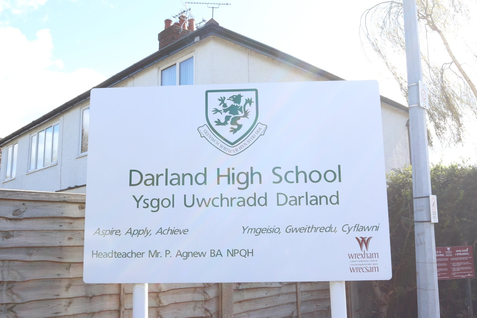 Darland High School sign