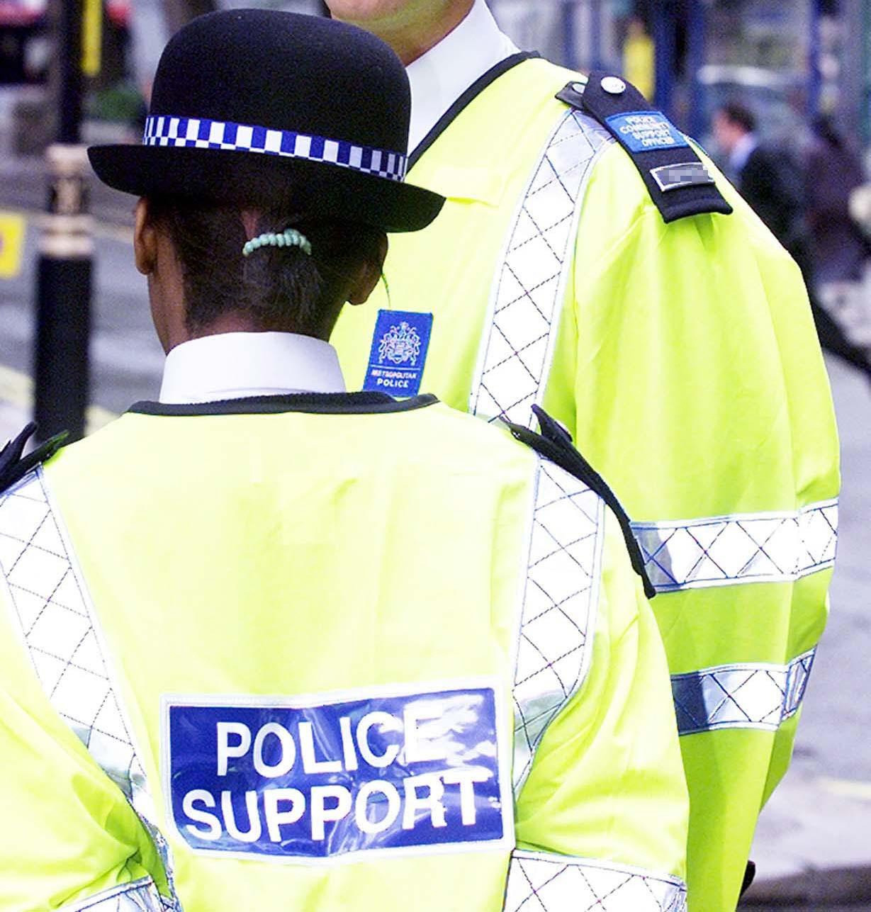 Police Community Support Officers patrolling the area.