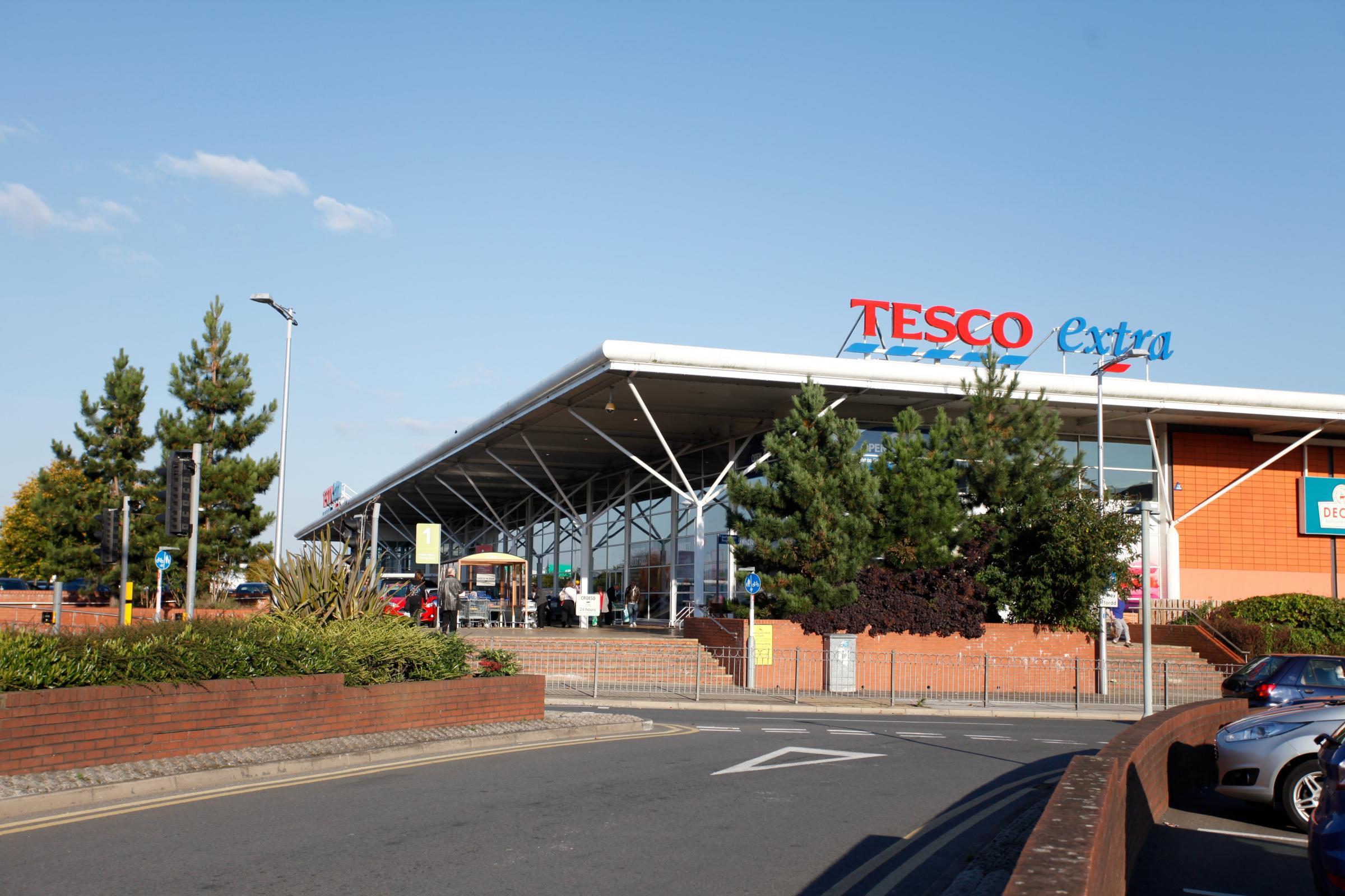 Tesco in Wrexham confirm travellers have pitched up in car park