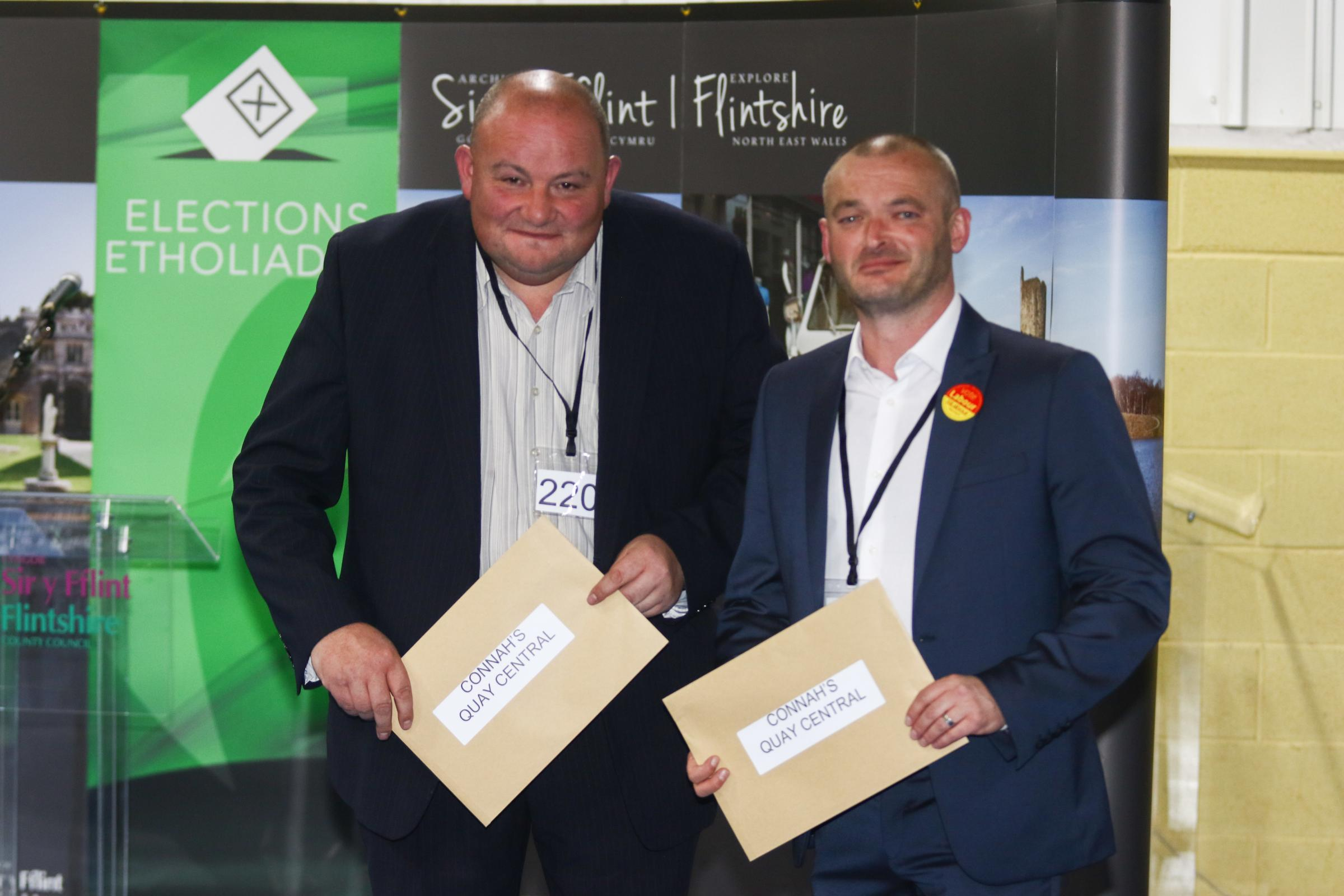Bernie Attridge, left, has been stripped of his roles by Aaron Shotton, right, leader of Flintshire County Council