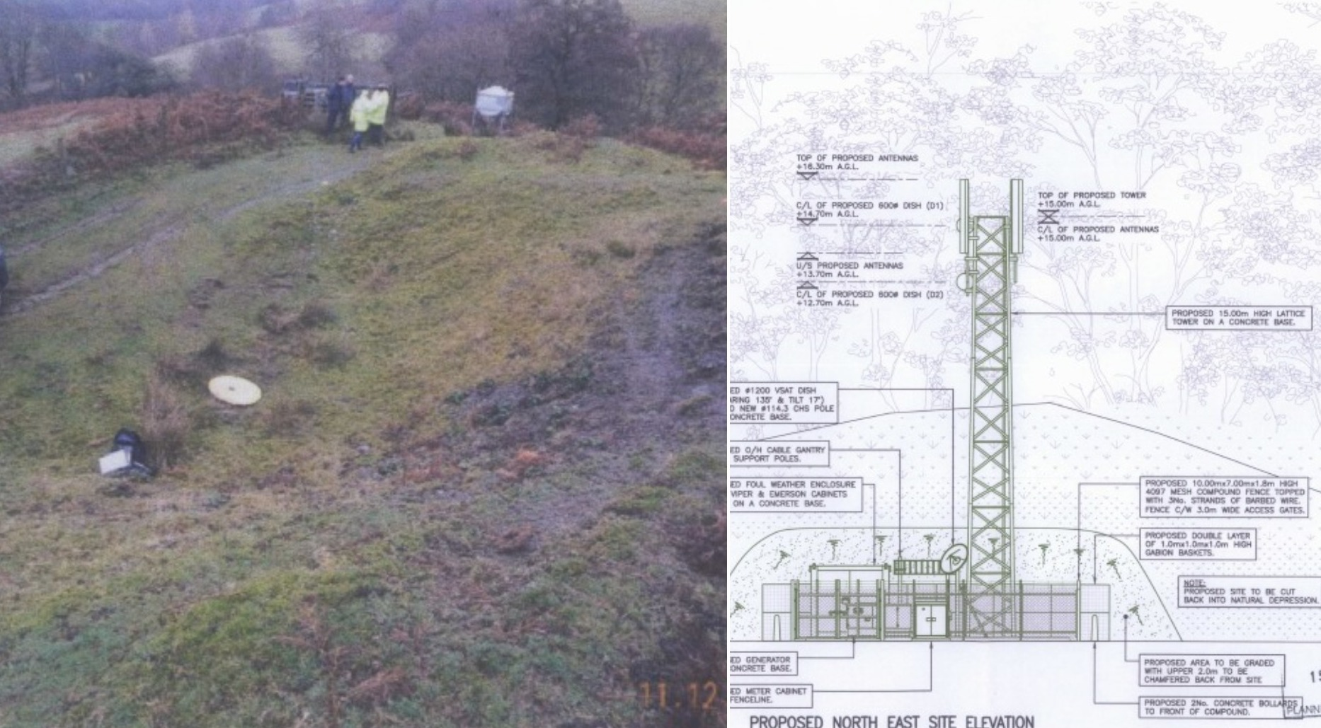 Home Office plans 15-metre-high mast in Ceiriog Valley as part of new emergency services network