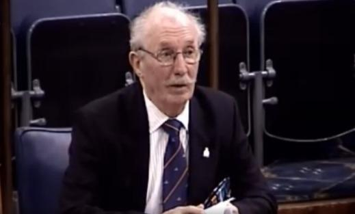 Major Donald Moore, who has called for the Chair of Wrexham council's planning committee to stand down.