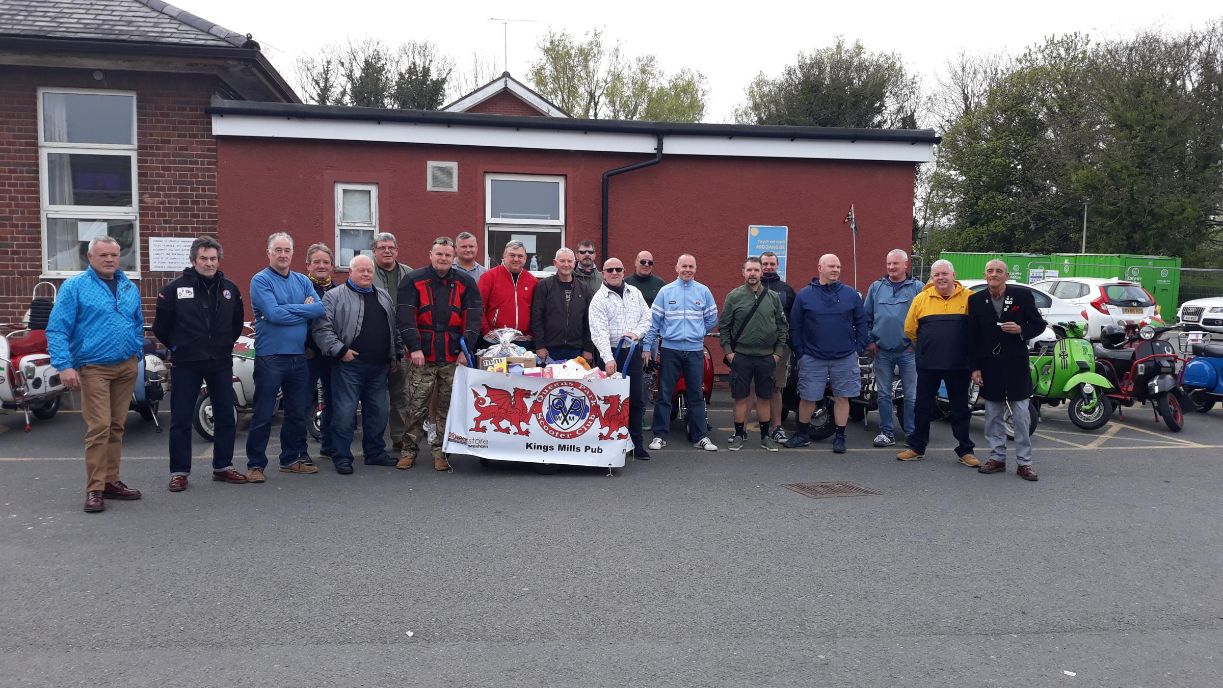 Caia Park scooter club members delivered chocolate eggs to children in hospital at Easter