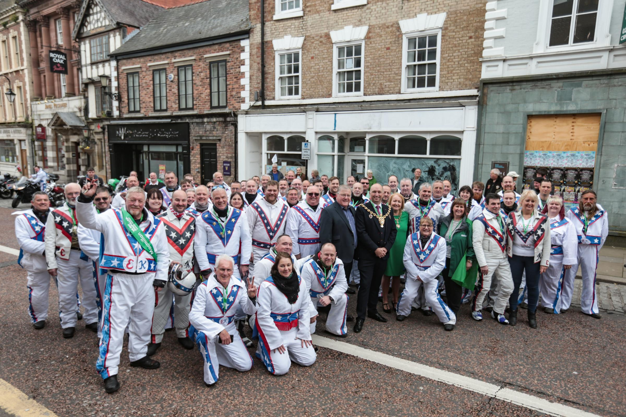 Evel Knievel charity riders roar back into Wrexham