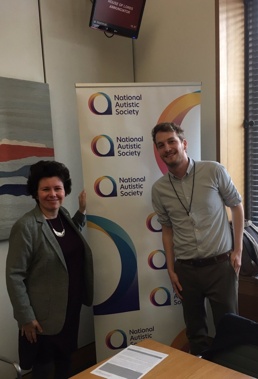 Susan Elan Jones MP meeting in Parliament with Sam Stone of the National Autistic Society Cymru
