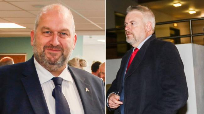 Carl Sargeant, left, and Carwyn Jones