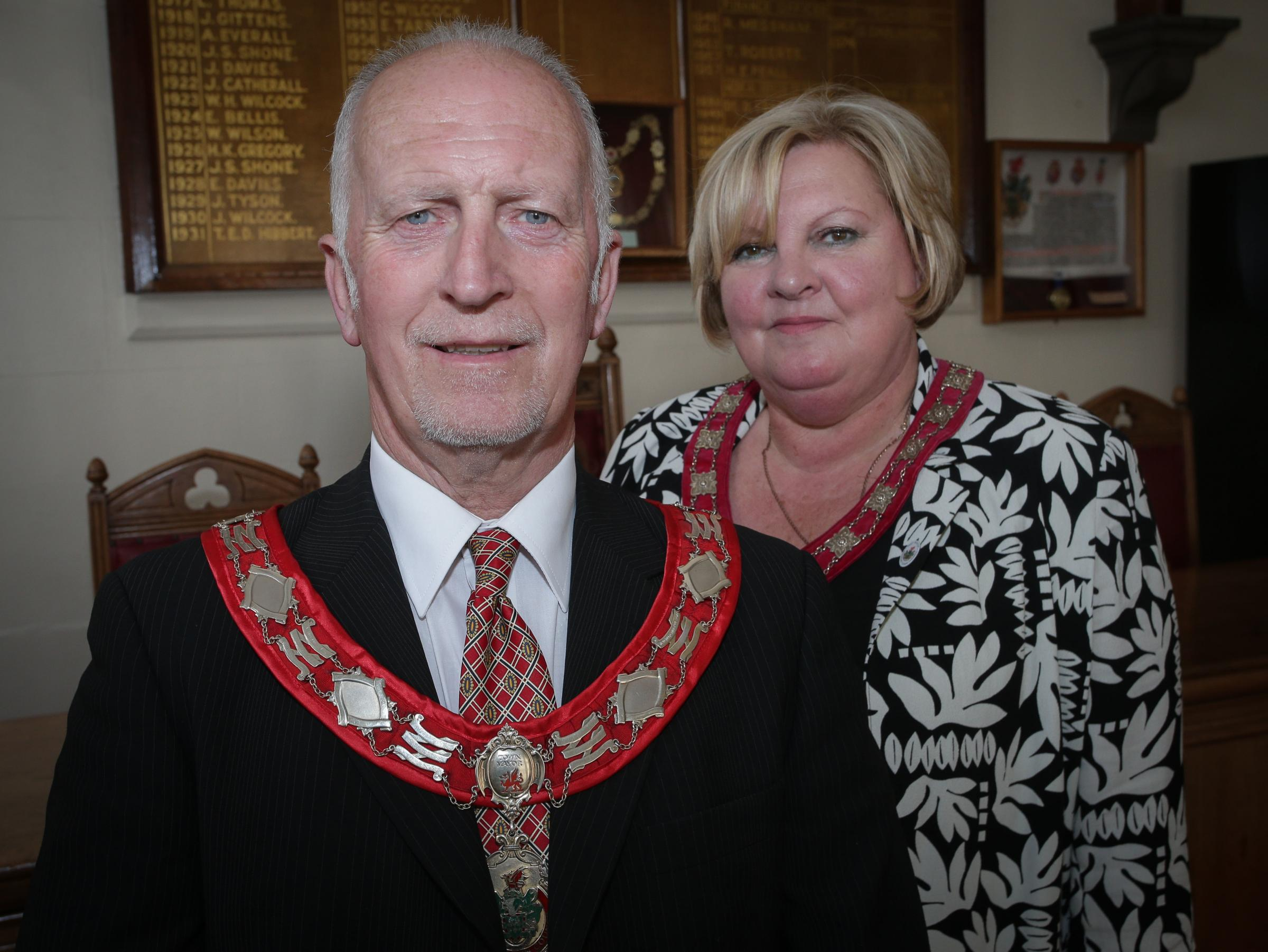 David and Carol Ellis stepped down as Buckley's Mayor and Mayoress.
