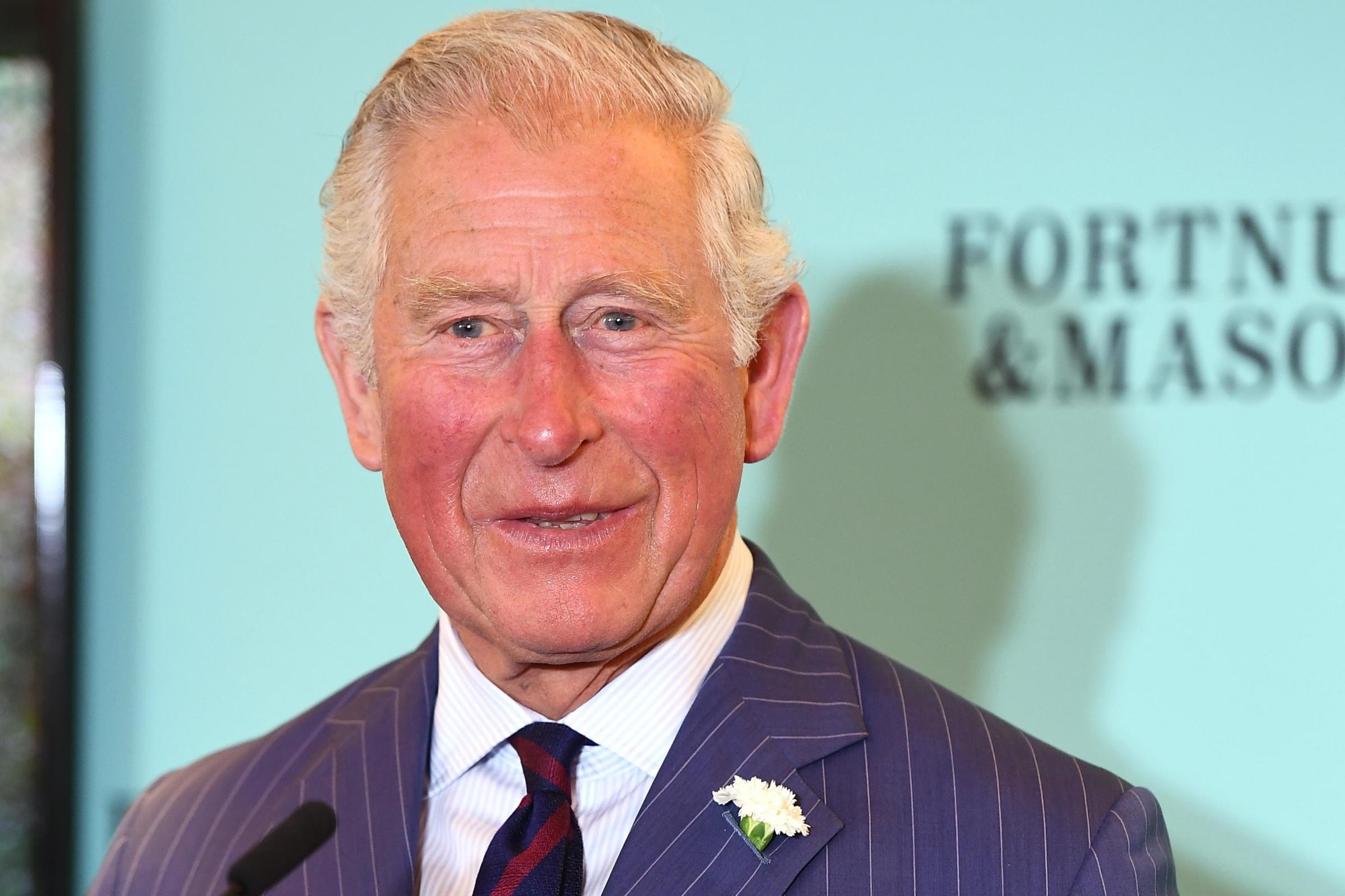 The Prince of Wales speaks after receiving an award in recognition of his commitment to supporting food and farming communities in the UK