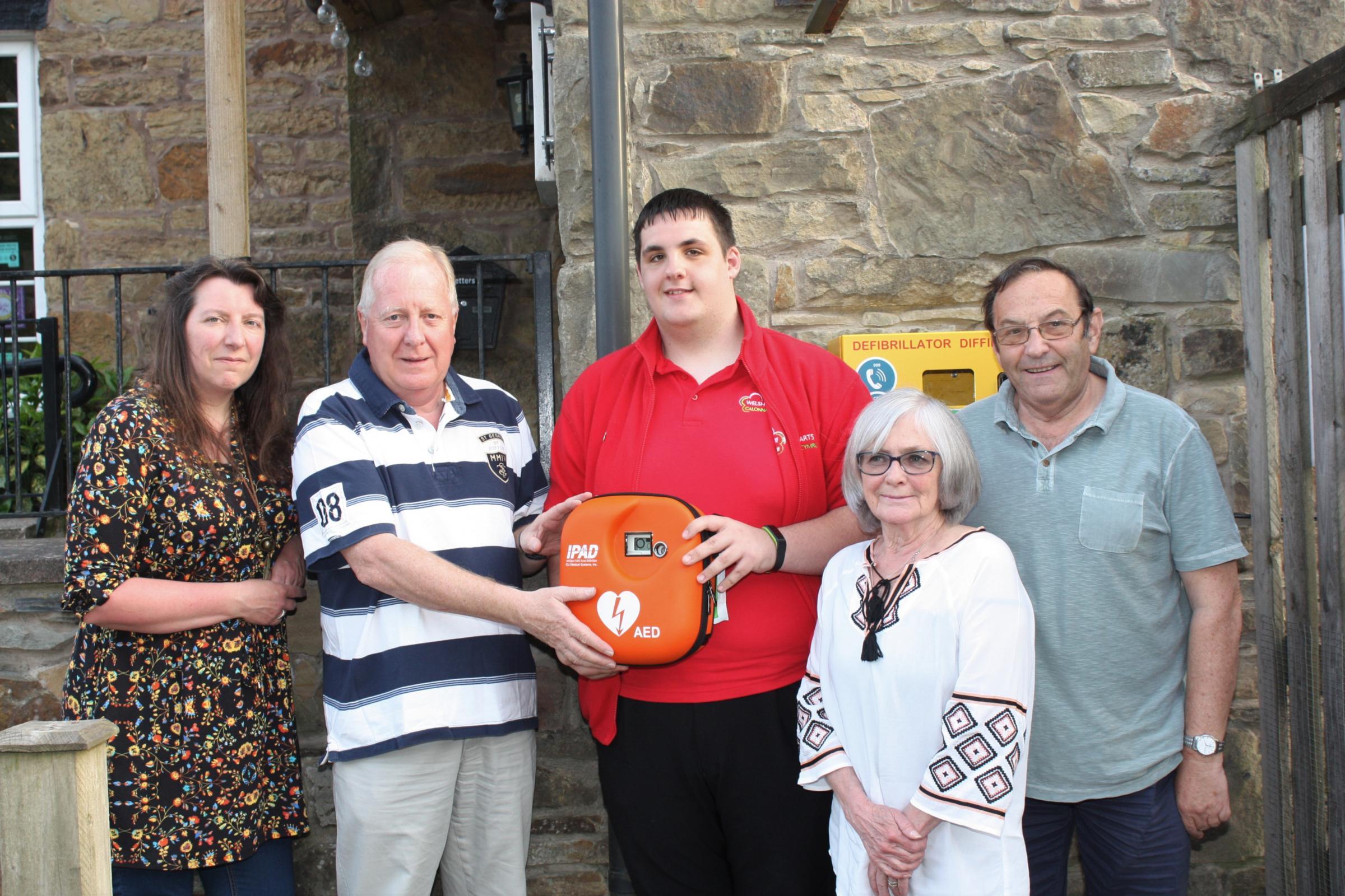 Flintshire community's second lifesaving device unveiled