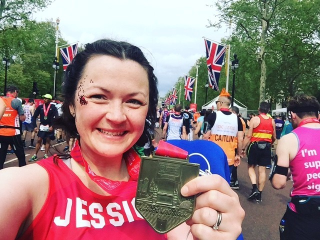 Wrexham nurse is all heart as she completes London marathon for charity