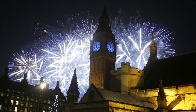 New Year celebrations. (AP Photo/Alastair Grant).