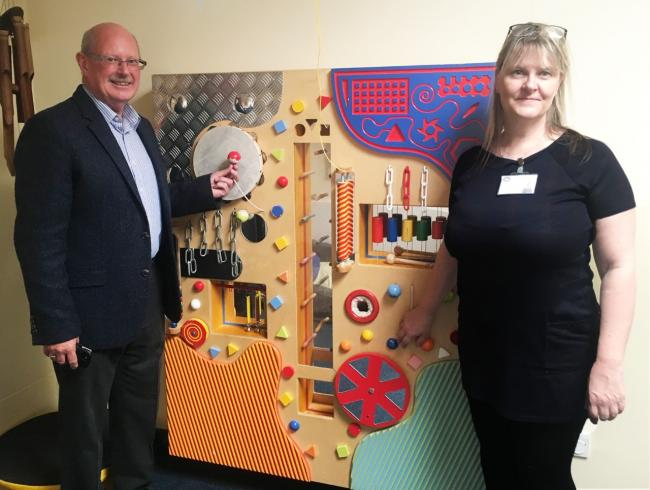 Phil James, NWMBA vice chairman and Kathy Jones, assistant headteacher.