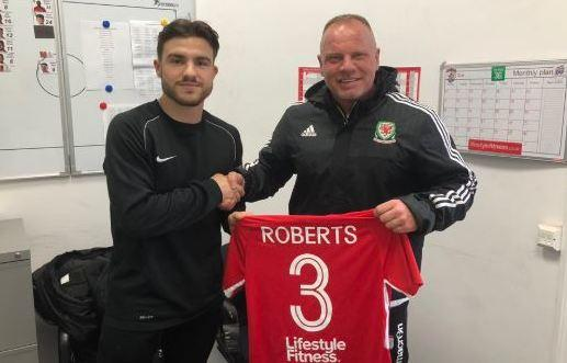 Callum Roberts with Andy Morrison